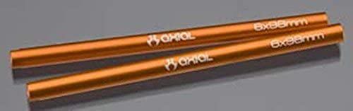 Axial Racing  AX30448 Threaded Aluminum Pipe 6x98mm - Orange (2pcs) for Axial AX10 Scorpion by AXIAL