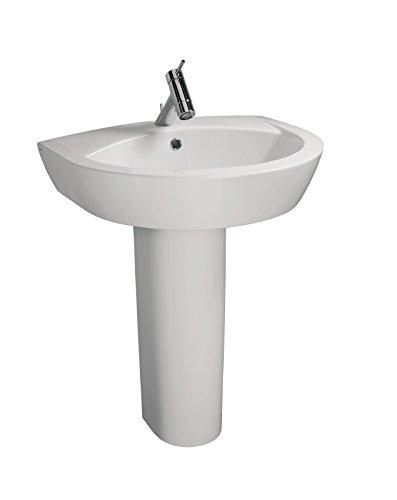 'aquaSu® Waschtisch New Day | 66 cm | Weiß | Waschbecken