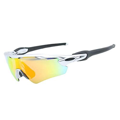 totalshop Gafas de sol deportivas polarizadas para hombres y mujeres, gafas de sol al aire libre para ciclismo, correr, pesca, conducción 100 UV, anti deslumbramiento, reduce la fatiga ocular