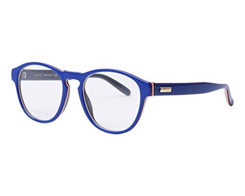 Gucci - Montura de gafas - para hombre Azul Glã¤nzend Blau - Schwarz 50