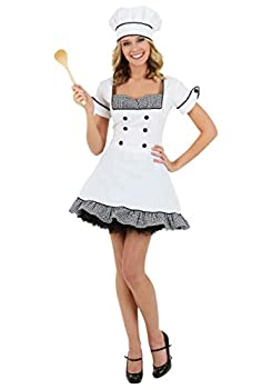 Sexy Chef Costume Large White