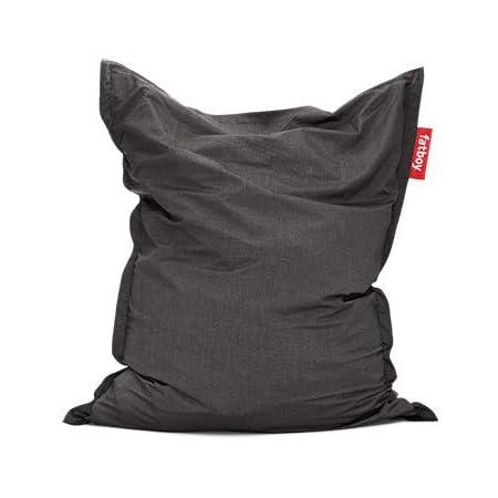 Fatboy® The Original Pouf d'extérieur   Bean Bag/Coussin/Fauteuil XXL Classique Outdoor   Anthracite   180 x 140 cm