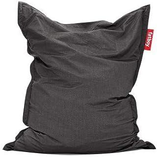 Fatboy® The Original Pouf d'extérieur | Bean Bag/Coussin/Fauteuil XXL Classique Outdoor | Anthracite | 180 x 140 cm
