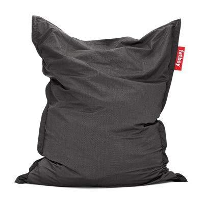 Fatboy® Original Outdoor Sitzsack Charcoal/Holzkohle | Klassische Beanbag für draußen, Sitzkissen in Grau | 180 x 140 cm