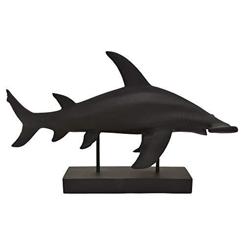 Plutus Brands Hammerhead tiburón sobre la base en resina negra