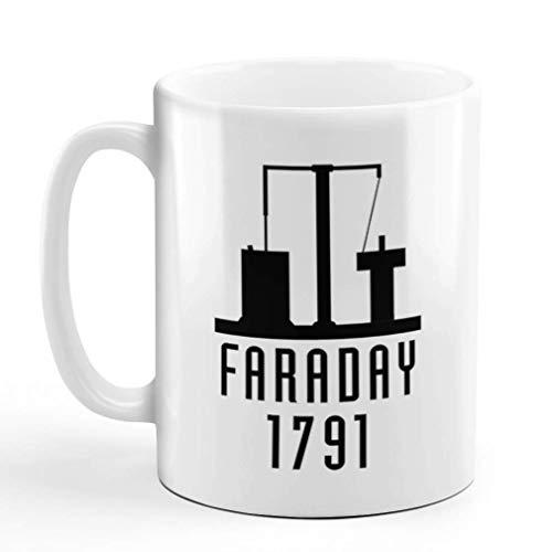N\A Kaffeetasse 11 Unzen Faraday 1791 Lustige Nerd Geek Keramik Teetasse Design nur