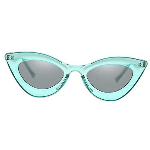 Hellery Occhiali Cat Eye Sunglass Retro Party Triangle Eye Occhiali Protezione UV Verde - verde, 146x150x46mm