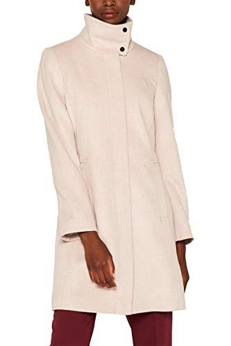 ESPRIT Collection Damen 099EO1G039 Mantel, Beige (Dusty Nude 5 279), Small (Herstellergröße: S)