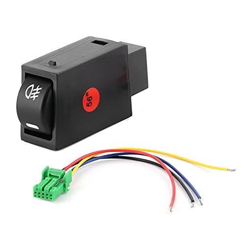 Interruptor de luz antiniebla Luces antiniebla Kit de interruptor basculante Botón pulsador de lámpara antiniebla con cableado apto para Scion FR-S Base Coupe 2013-2016