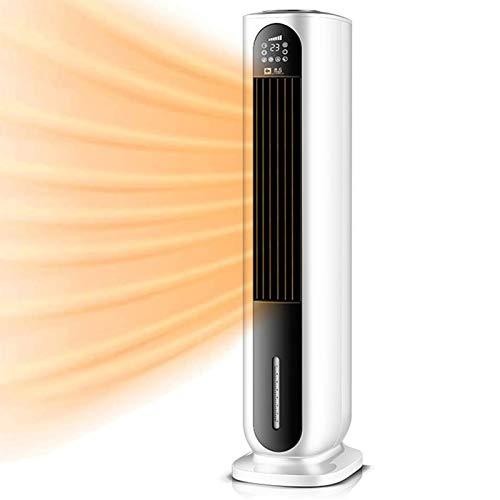 NJOLG Raumheizung Vertikale Klimatisierungslüfter Fernheizventilator Mobile Heizung und Kühlung Kleine Klimaanlage mit negativen Ionen, um die Luft zu reinigen (Color : White)