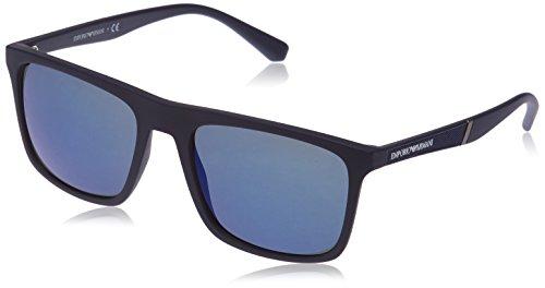 Emporio Armani 0EA4097 Gafas de sol, Azul mate, 56 Unisex-Adulto