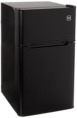 RCA RFR835-Black 3.2 Cubc Foot 2 Door Fridge and Freezer, Black