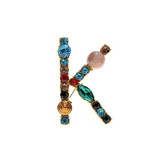 胸针,领针,丝巾扣,アルファベットブローチレターピンファッションアクセサリー