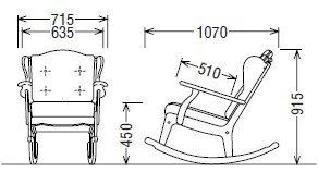 カリモク家具RC60モデルロッキングチェアー【コロニアルシリーズ】【COMBグループ】RC6032GK