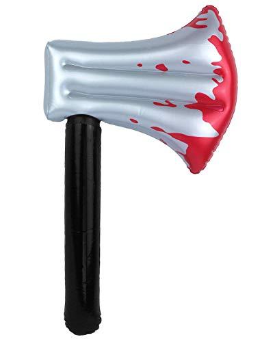 Hi Fashionz Aufblasbares Axtmesser zum Aufblasen, Spielzeug für Partys und Spukkostüme Gr. Einheitsgröße 40 cm, Inflatable Axe 40cm