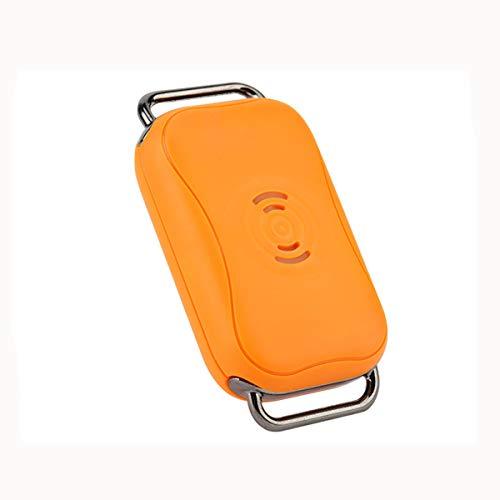 Shjjyp GPS Tracker für Hunde - Leichter und wasserfester Peilsender mit unlimitierter Reichweite,Orange