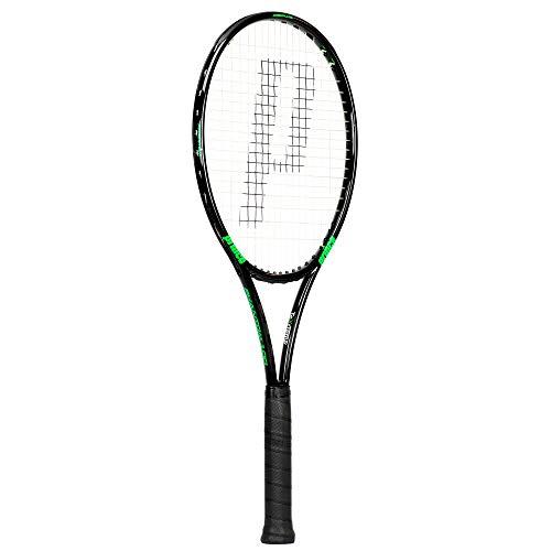 Prince TeXtreme Erwachsene Tennisschläger Phantom 100, Schwarz/Grün, Grip 4:4 1/2 Zoll