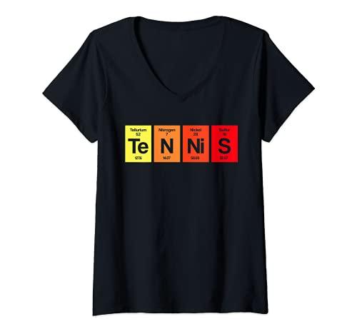 Mujer Regalo de entrenador de tenis de jugador de tenis de mesa Camiseta Cuello V