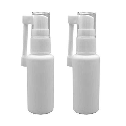Qinghengyong 2pcs / Set Nez Nasal Pulvérisateur en Plastique pulvérisation nasale Flacon pulvérisateur Flacon pulvérisateur réutilisable Vide avec Rotation de Spray Buse 30ML