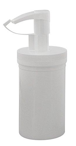 Creme-Pumpspender 450ml, leere weiße Dose mit Pumper, Kosmetex, 1x 450 ml