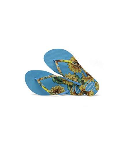 Havaianas Slim Sensation Flat Flip Flop UK 3/4 - Bra 35/36 Turquoise