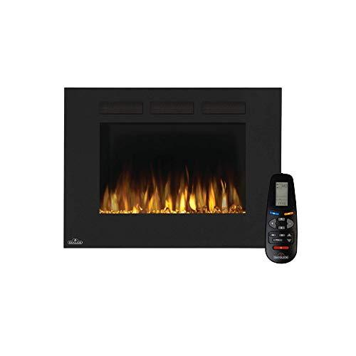 Napoleon Premium Fire - Allure™ Series (32) - Elektrokamin, Kamin elektrisch, elektrischer Wandkamin, kaminofen Elektro, kaminfeuer elektrisch, Heizung, 3D LED Flamme & inkl. Fernbedienung - schwarz