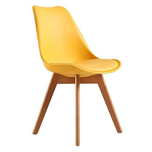 GP Eames Esstisch und Stühle aus Kunststoff, Legerer Kreativer Schwamm-Tulpenstuhl, gelb, 1
