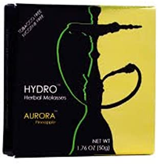 Hydro Herbal 50g Pineapple Hookah Shisha Tobacco Free Molasses