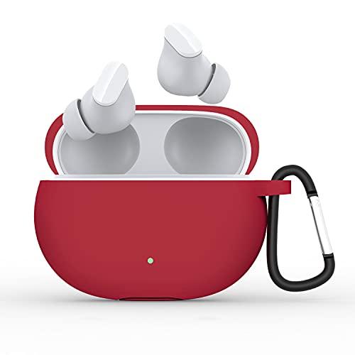 Silikon Schutzhülle mit Karabiner Kompatibel mit Beats Studio Buds Bluetooth Headset Case Cover Schutz Schale Kopfhörer Schutzhülle Kompatibel mit Beats Studio Buds 2021 (I)