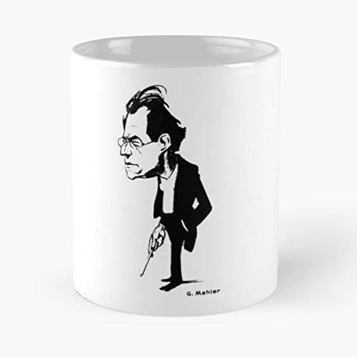 Mahler Conductor – The Best White Marble Ceramic Coffee Mug 11 oz! !