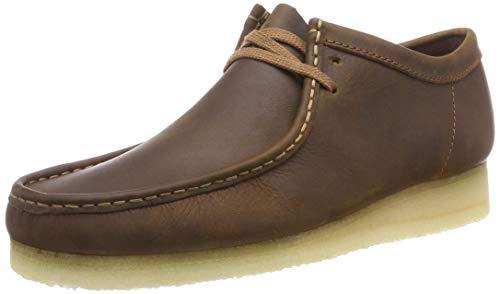Clarks Originals Wallabee, Zapatos de Cordones Derby para Hombre, Marrón (Beeswax Leather), 40 EU
