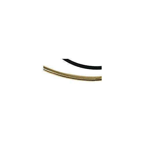 Rayher 2154389Collier en caoutchouc diamètre 2mm 46cm en polystyrène 1 plaqué or