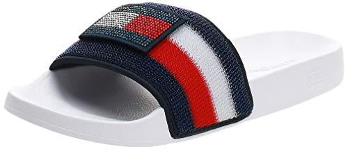 Tommy Hilfiger FW0FW04629 Customize Slide Sandali Donna White Blue 40