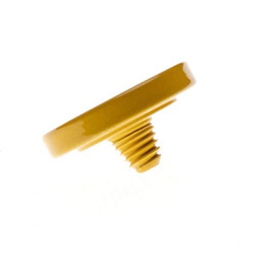 vhbw Botón de liberación ergonómico Amarillo para cámaras Hasselblad, Knight, Leica, Voigtlander