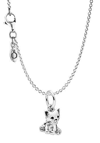 Pandora Collar con colgante Sweet Cat plata 925 75253
