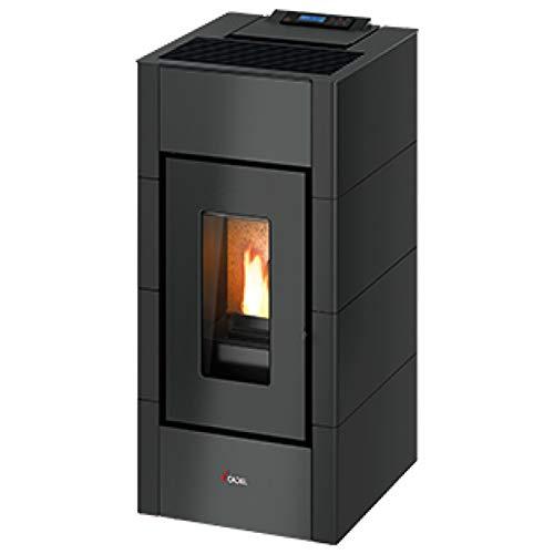 Estufa de pellets Cadel Cristal3 antracita 8,5 kW de aire