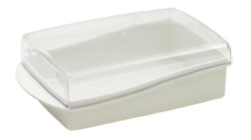 CURVER | Beurrier Prima, Blanc, Other Kitchenware, 18x10x6 cm