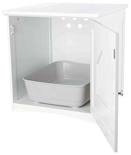 Trixie House For Cat Toilets, 49 x 51 x 51 cm, White