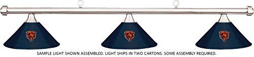 Imperial NFL Chicago Bears Blue Metal Shade & Chrome Bar Billiard Pool Table Light