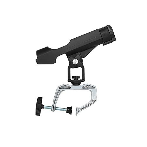 Generic Soporte para caña de pescar con gran apertura de pinza, para marina, kayak, nailon, plástico, soporte para caña de pescar ajustable 360 grados, soporte plegable