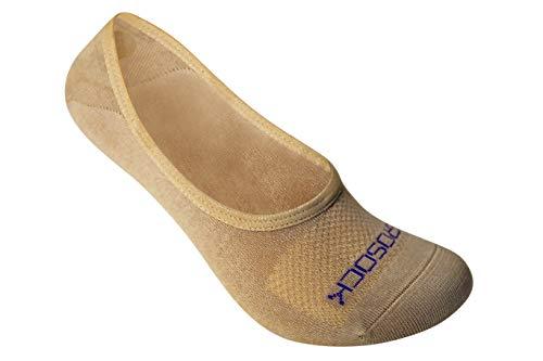 ZeroSock Bamboo Super Low Invisible Socks With Mesh Ventilation, Anti-Tear Double Thread Bottoms & Anti-Slip Gel Heel Grip (Women's Size 6-8, Nude)