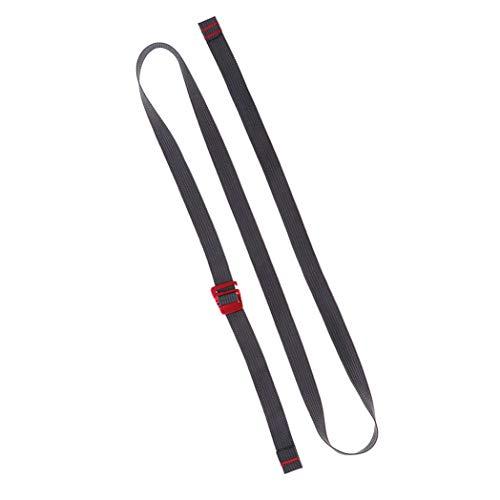 Myriad Choices 1,5 m Gurtband Nylonseil Gurt mit Schnellverschluss Metallhaken zum Anziehen von Rucksäcken, Zelten, Schlafsäcken, Gepäck, etc.