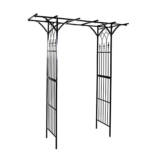 Wgwioo Arco De Jardín, Cenador De Jardín para Varias Plantas Trepadoras, Jardín Interior Y Exterior O Cenador De Arco De Boda, para Jardín Al Aire Libre, Patio Trasero