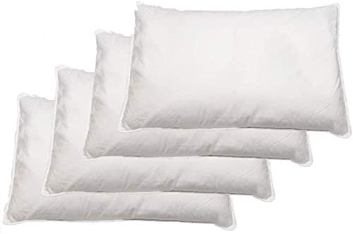 HIGH LIVING ? Duck Feather Pillows pack of 4 Large & Comfortable Hotel Quality 100% Cotton