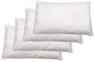 HIGH LIVING ® Duck Feather Pillows pack of 4 Large & Comfortable Hotel Quality 100% Cotton
