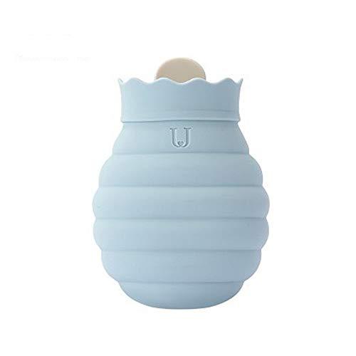rouge Fontee bouteille enfant mini 0.5L de capacit/é pour les enfants,couverture tricot/ée souple avec motif de flocon de neige Bouillotte eau chaude avec housse