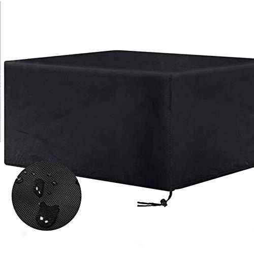 KANGLIPU Funda Protectora 308x138x89cm Impermeable Anti-UV Impermeable Funda Material 100% Ecológico para Patio Muebles Interior Sofa Jardin, Negro