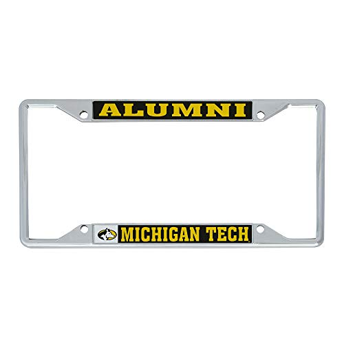 Desert Cactus Michigan Technological University MTU Huskies NCAA Metal License Plate Frame for Front or Back of Car Officially Licensed (Alumni)