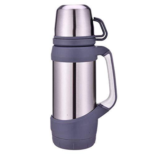 DJY-JY - Termo de viaje de 1200 ml de acero inoxidable botella de agua termos de senderismo escalada tetera agua