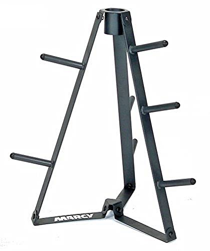 """Marcy Plate Tree for Standard Size Weight Plates/Storage Rack for Exercise Weights PT-36 dark grey, 34.00 x 9.00 x 4.00"""""""